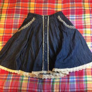 アクシーズファム(axes femme)のデニム生地スカート(ひざ丈スカート)