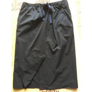 アディダス(adidas)のダンスキン スカート濃紺(ひざ丈スカート)