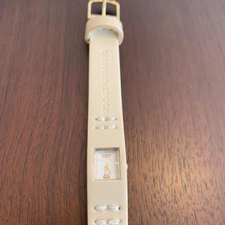 カバンドズッカ(CABANE de ZUCCa)のCavane de ZUCCA ベージュ 腕時計 電池なし(腕時計)