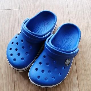 クロックス(crocs)の【中古】クロックス キッズ ブルー(サンダル)