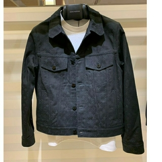 ルイヴィトン(LOUIS VUITTON)のルイヴィトン モノグラムデニムジャケット ノワール(黒)(Gジャン/デニムジャケット)