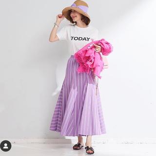 Drawer - オブリobli ストライプスカート akiki rosy cen yori