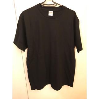 ザラ(ZARA)の新品 無地 Tシャツ 黒 L(Tシャツ(半袖/袖なし))