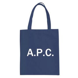 アーペーセー(A.P.C)のネイビー A.P.C.  トートバック(トートバッグ)