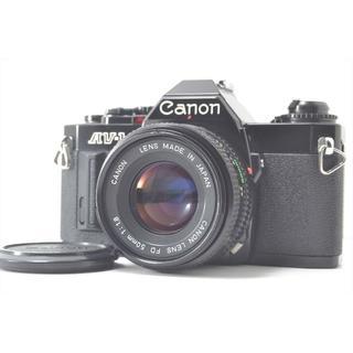 キヤノン(Canon)のCanon キャノン AV-1 ブラック 35mm NFD 50mm f/1.8(フィルムカメラ)