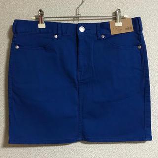 ジーユー(GU)のタグ付き  新品未使用  GU  ミニスカート  ブルー  Lサイズ(ミニスカート)