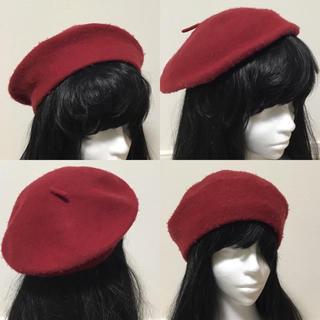 ☆ベレー帽☆ワインレッド☆(ハンチング/ベレー帽)