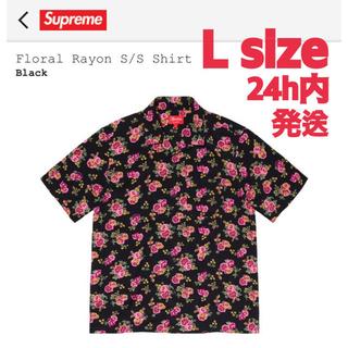 シュプリーム(Supreme)のSupreme Floral Rayon S/S Shirt Black L(シャツ)