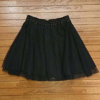 ジーユー(GU)のgu シフォンスカート ブラック(ミニスカート)