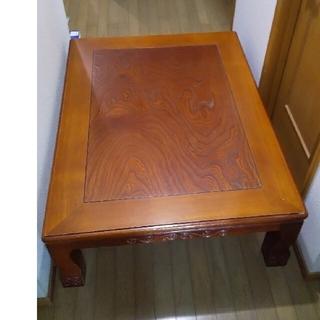 座卓 テーブル 木製 ヒーター付き 大型テーブル こたつ 炬燵(ローテーブル)