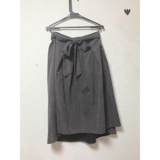 シマムラ(しまむら)の大きめリボン付き フレアスカート(ひざ丈スカート)