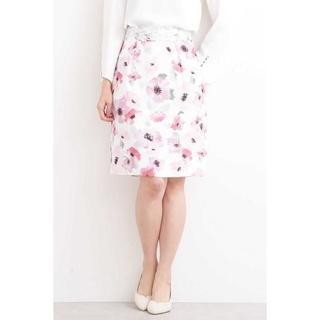 プロポーションボディドレッシング(PROPORTION BODY DRESSING)のブライトトーンフラワータイトスカート(ひざ丈スカート)