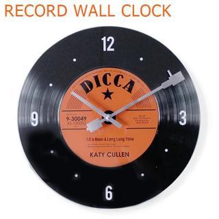 レコード ウォールクロック 34cm (レッド) 壁掛け時計 アナログ盤(掛時計/柱時計)