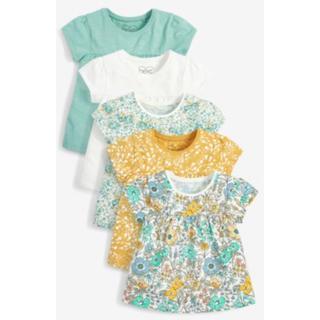 ネクスト(NEXT)の即納 ネクスト ティールフローラル Tシャツ 5枚パック 3-4yrs 100(Tシャツ/カットソー)