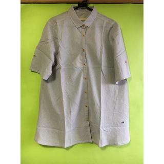 クロコダイル(Crocodile)のブラウス白茶縞(シャツ/ブラウス(半袖/袖なし))