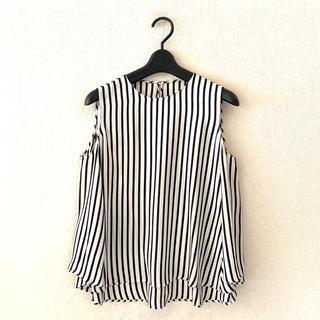 トゥモローランド(TOMORROWLAND)のトゥモローランド♡シルク素材のノースリーブシャツ(シャツ/ブラウス(半袖/袖なし))