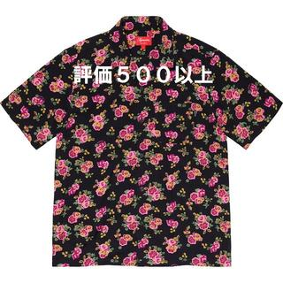Supreme - Supreme Floral Rayon S/S Shirt 黒 L