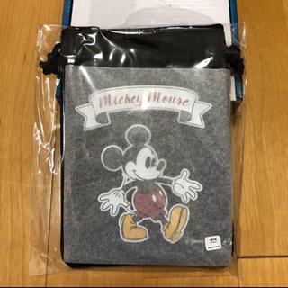 ディズニー(Disney)のディズニー ガジェットポーチ 黒 ミッキー(キャラクターグッズ)
