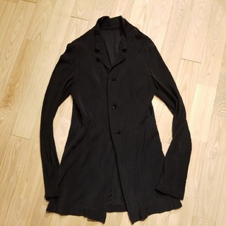 Yohji Yamamoto - yohjiyamamoto + NOIR シルク100%ドレープロングジャケット