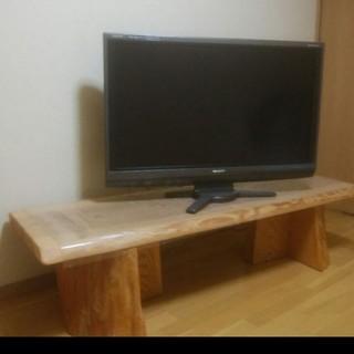 天然木杉の一枚板テレビ台(家具)