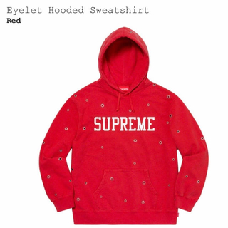 シュプリーム(Supreme)の【Supreme】Eyelet Hooded Sweatshirt(スウェット)