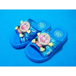 アンパンマン - 新品 15cm アンパンマン 楽しいサンダル ブルー 靴