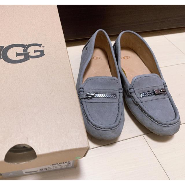 UGG(アグ)のUGG ローファー グレー モカシン スリッポン レディースの靴/シューズ(スリッポン/モカシン)の商品写真