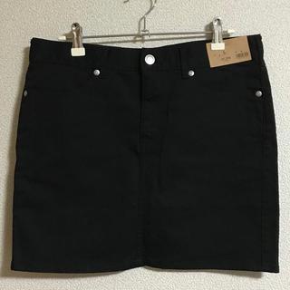 ジーユー(GU)のタグ付き  新品未使用  GU  ミニスカート  ブラック  Lサイズ(ミニスカート)