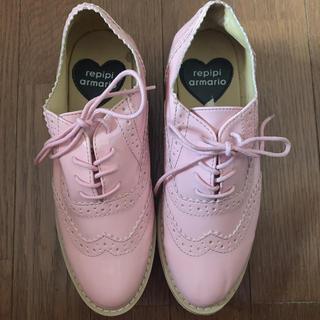 レピピアルマリオ(repipi armario)のrepipi armario ピンクエナメル靴(ローファー)