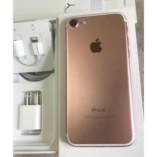 Apple - iPhone7 ROSEGOLD 32GB【超美品】
