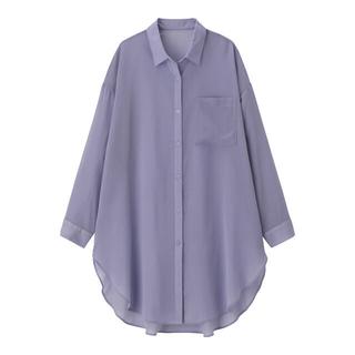 ジーユー(GU)のシアーロングシャツ GU(シャツ/ブラウス(長袖/七分))