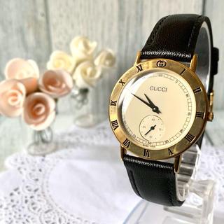 Gucci - 【電池交換済み】GUCCI グッチ 3000.2M 腕時計 スモセコ メンズ
