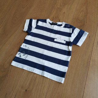 ベベ(BeBe)のBeBeボーダーTシャツ  90cm(Tシャツ/カットソー)