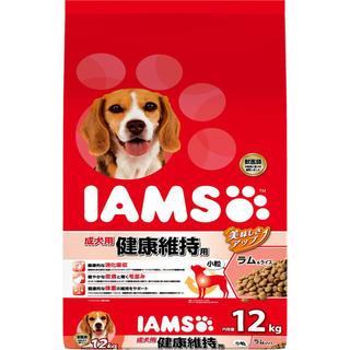 アイムス(IAMS)ドッグフード12kg 成犬用健康維持 ラム&ライス(ペットフード)