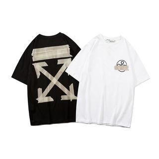 OFF-WHITE - ✨新作OFF-WHITE半袖Tシャツ★オフホワイト男女兼用ユニセックス#05