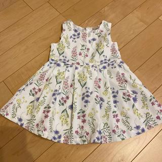 petit main - プティマイン 花柄 ワンピース
