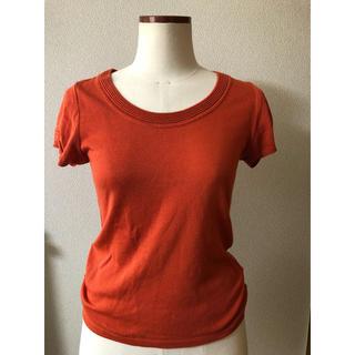 アンタイトル(UNTITLED)の鮮やかなオレンジカットソー(カットソー(半袖/袖なし))