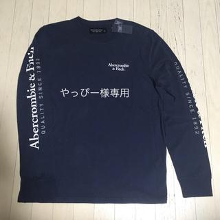アバクロンビーアンドフィッチ(Abercrombie&Fitch)のAbercrombie&Fitchアバクロ ロゴプリントロングTシャツL新品(Tシャツ/カットソー(七分/長袖))