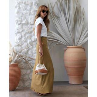 room306 CONTEMPORARY - Linen Blend Flare Skirt