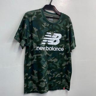 ニューバランス(New Balance)のNEW BALANCE Tシャツ グリーン プリント カジュアル used 古着(Tシャツ/カットソー(半袖/袖なし))