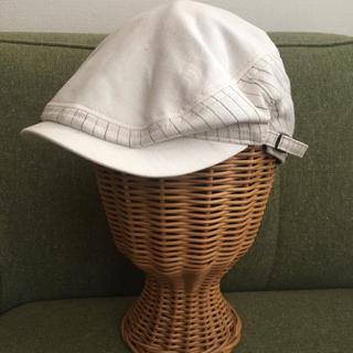 オーバーライド(override)のオーバーライド ホワイト ハンチング 帽子(ハンチング/ベレー帽)