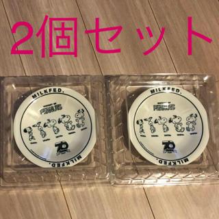 ミルクフェド(MILKFED.)の特製 スヌーピーヒストリー美濃焼のお皿✖️2個セット(食器)