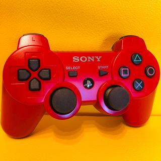 プレイステーション3(PlayStation3)のSONY PS3 純正 コントローラーDUALSHOCK3 赤(その他)