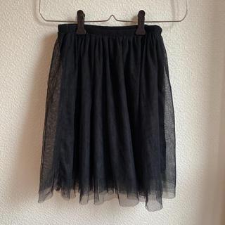 ジーユー(GU)のチュールスカート ブラック(ミニスカート)