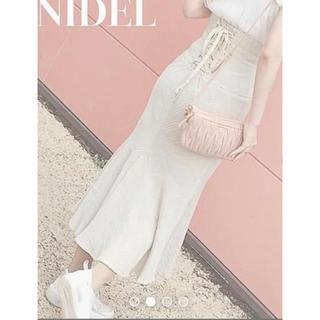 snidel - snidelスナイデルハイウエストコットンリネンマーメイドスカート