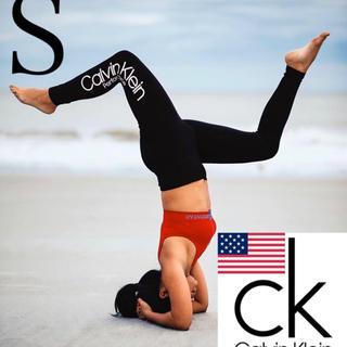 Calvin Klein - レア 新品 Calvin Klein USA ハイウエストレギンス 黒 S 下着