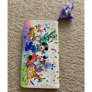 ディズニー(Disney)のディズニーリゾート35周年グッズスマホ手帳カバーTDRランドシーミッキーミニー(モバイルケース/カバー)