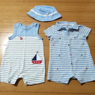 コストコ(コストコ)のカノコ素材 ロンパース☆男児12ヶ月頃(ロンパース)