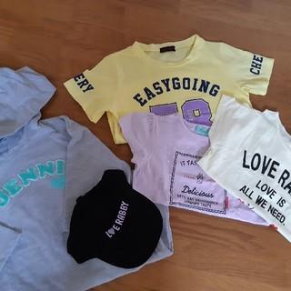ラブトキシック(lovetoxic)のTシャツ、パーカーワンピース、キャップのセット(Tシャツ/カットソー)