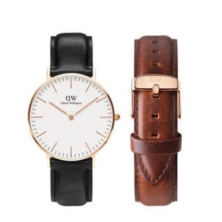 ダニエルウェリントン(Daniel Wellington)の【36㎜】ダニエル ウェリントン腕時計DW036+ベルトSET 〈3年保証付〉(腕時計)